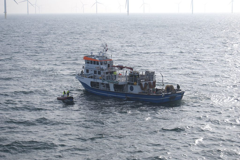 HBC Performer Sailing in offshore windfarm