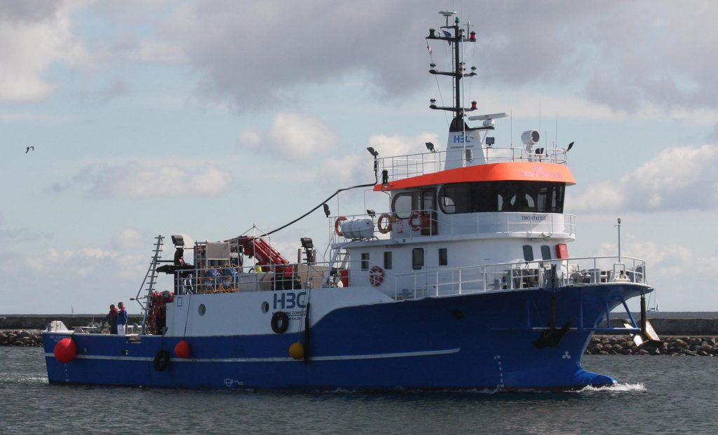 HBC Supporter, diving support vessel, ROV support vessel.