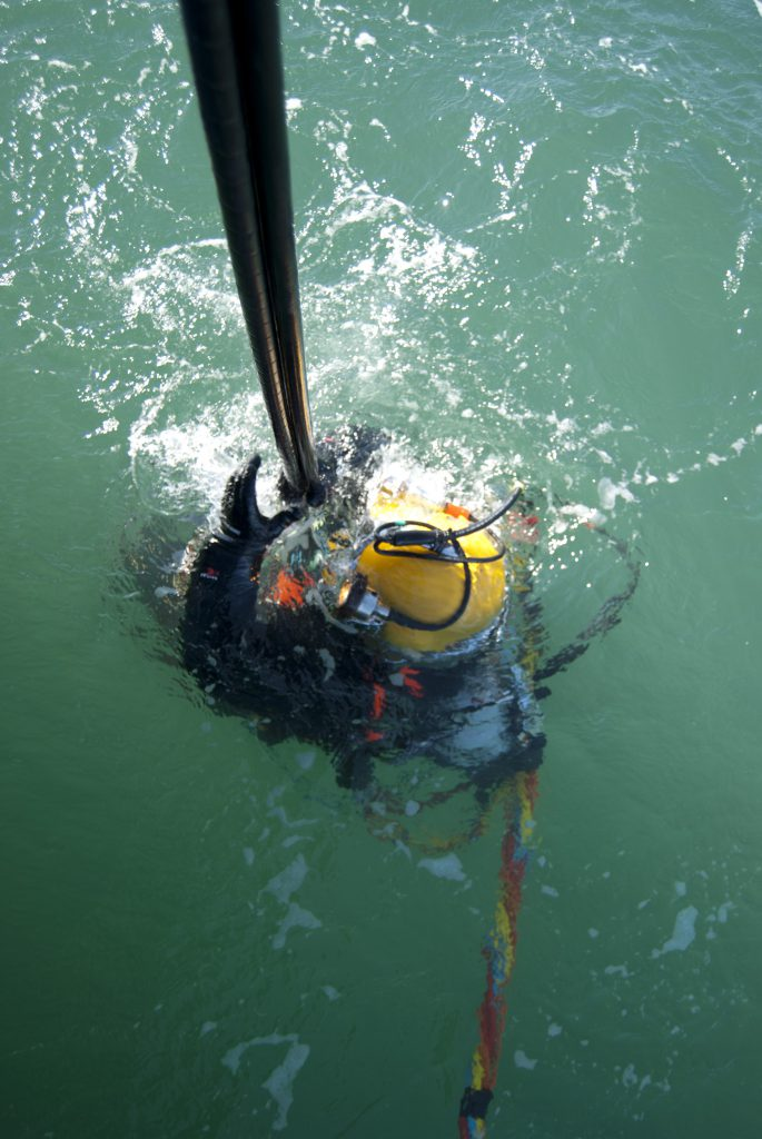 HBC Diver at surface