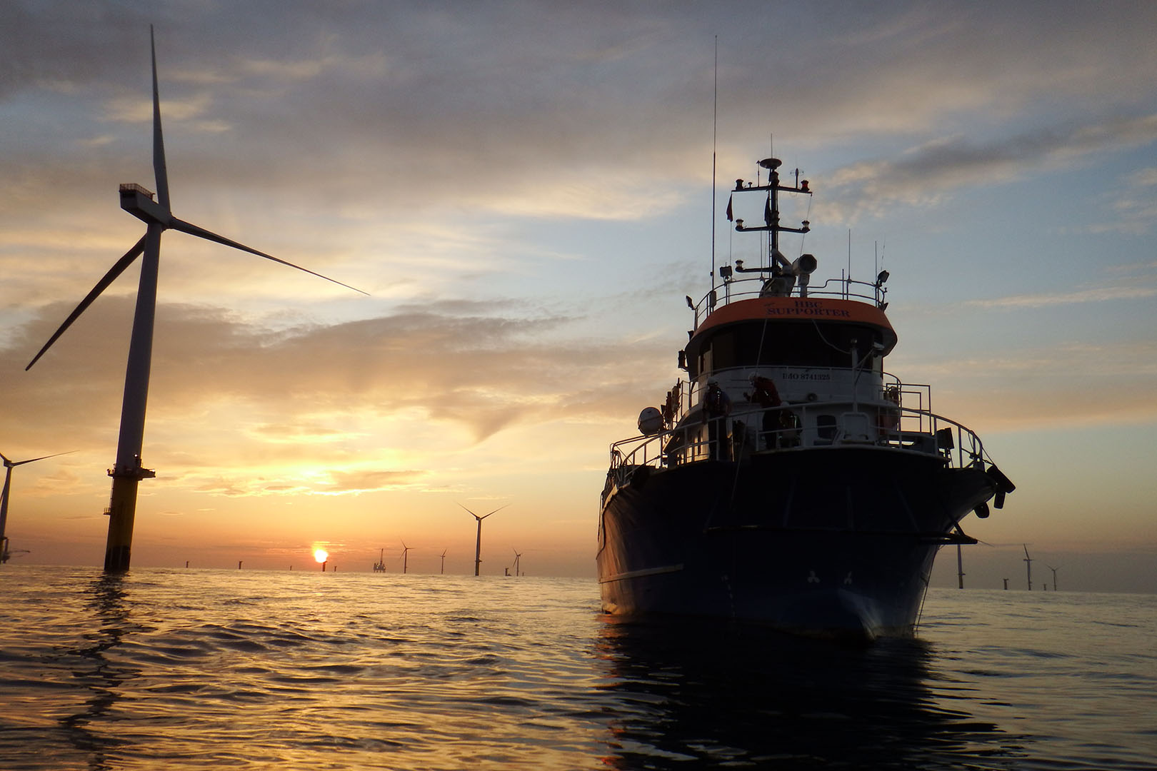 HBC Supporter Sunset in Windfarm
