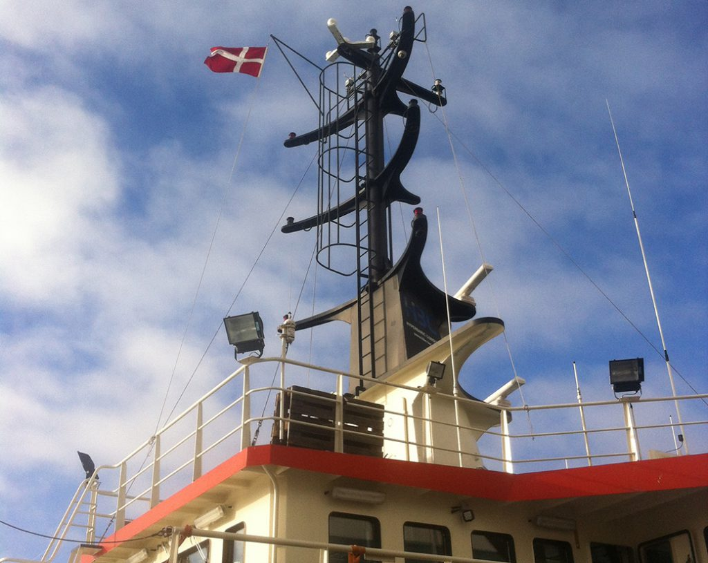 HBC Achiever on Danish flag